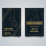 приветствие рождества карточки веселое иллюстрация штока