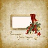 приветствие рождества карточки старое Стоковая Фотография
