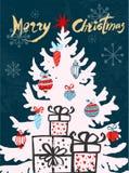 приветствие рождества карточки Стоковые Фото