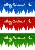 приветствие рождества карточки иллюстрация вектора