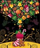 приветствие рождества 4 карточек Стоковое Изображение