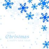Приветствие рождественской открытки с снежинками бесплатная иллюстрация