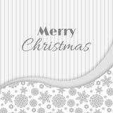 Приветствие рождества и Нового Года, карточка приглашения серый цвет как раз любит белизна вы иллюстрация штока