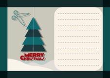 приветствие рождества карточки веселое Стоковая Фотография
