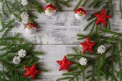 приветствие рождества карточки звезды абстрактной картины конструкции украшения рождества предпосылки темной красные белые Стоковое Изображение RF
