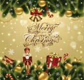 приветствие рождества карточки Стоковое Фото