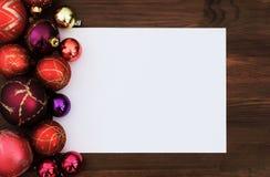 приветствие рождества карточки Стоковые Фотографии RF