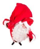 Приветствие Санта Клауса с мешком Стоковое Изображение