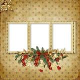 приветствие семьи рождества карточки Стоковое Изображение RF