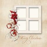 приветствие семьи рождества карточки Стоковые Фотографии RF