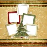 приветствие семьи рождества карточки Стоковое Фото