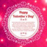 Приветствие сердца дня валентинки вектора кружевное бумажное Стоковые Фотографии RF