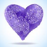 Приветствие сердца дня валентинки вектора кружевное бумажное Стоковое фото RF