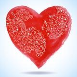 Приветствие сердца дня валентинки вектора кружевное бумажное Стоковая Фотография