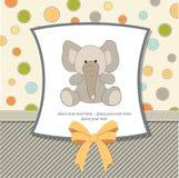 приветствие слона карточки Стоковые Изображения RF