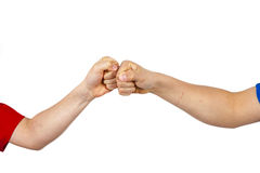 Приветствие с рему кулака стоковое изображение