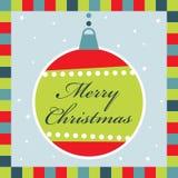 приветствие украшения рождества карточки иллюстрация штока