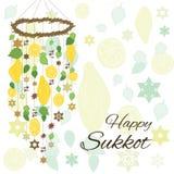Приветствие украшения Sukkot Стоковое фото RF