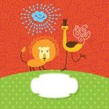 приветствие детей карточки милое Стоковое Фото