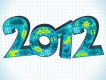 приветствие 2012 карточек Стоковые Изображения