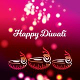 Приветствие 2018 Diwali стоковые изображения
