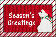 Приветствие ` s сезона рождества Стоковое Фото