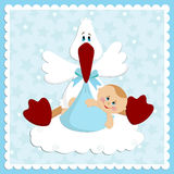 приветствия карточки младенца Стоковые Фотографии RF