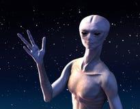 Приветствия от космического пространства Стоковое Фото