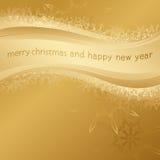 Приветствия предпосылки и праздника золота Стоковые Изображения RF