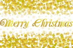 Приветствия рождества на confetti золота иллюстрация вектора