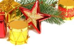 приветствия украшения рождества устанавливают текст Стоковое Изображение RF
