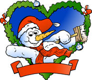 приветствовать вектора снеговика иллюстрации Стоковое фото RF
