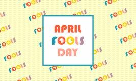 Приветствовать день дураков в апреле иллюстрация вектора
