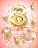Приветствовать знамя 8-ое марта, день международной женщины стоковое изображение