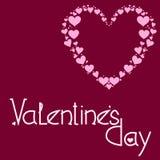 Приветствовать открытку на день Святого Валентина стоковые фото