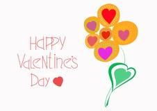 Приветствовать открытку на счастливый день Святого Валентина стоковые изображения