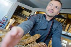 Приветствовать от хлебопека стоковая фотография