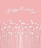 Приветствовать розовую карточку Стоковое Изображение