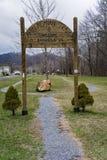 Приветствующий знак к аппалачским Hikers следа Стоковое Изображение RF