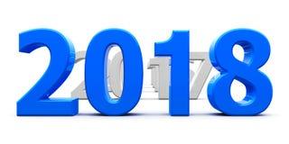 Приведенная синь 2018 Стоковые Фотографии RF