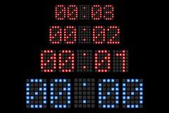 Приведенные комплексом предпусковых операций номера дисплея Стоковое фото RF