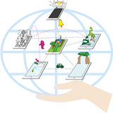 приведите технологию в действие Стоковое Изображение RF