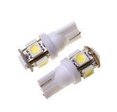 2 привели лампу для автомобиля с 5 СИД SMD Стоковое фото RF