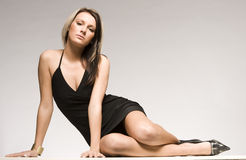 привлекательная белокурая девушка Стоковая Фотография