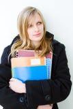 привлекательная белокурая женщина студента Стоковые Фотографии RF
