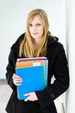 привлекательная белокурая женщина студента Стоковое Изображение