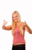 Привлекательная белокурая женщина Стоковое фото RF