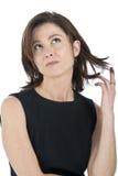 привлекательная возмужалая женщина портрета стоковые изображения rf