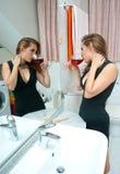 привлекательная выпитая женщина вина Стоковое Изображение RF