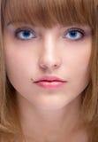привлекательная голубая eyed женщина стоковое изображение rf